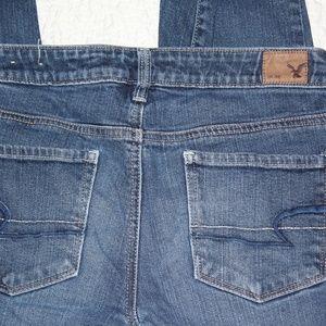 American Eagle Skinny Jeans Frayed Hem Size 2